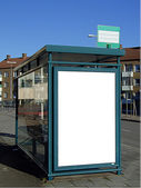 Bus stop with blank bilboard 02 — Stock Photo