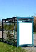 Bus stop with blank bilboard — Photo