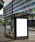 Bus stop HDR 10 — Stock Photo