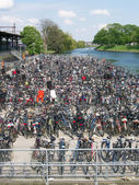 Lots of bikes — Stock Photo