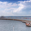 Helsingborg port Panorama — Stock Photo