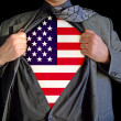 Stock Photo: Superhero america