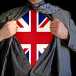 Superhero britain — Stock Photo