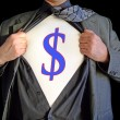 Stock Photo: Superhero dollar