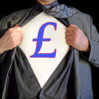 Stock Photo: Superhero pound