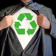 Superhero recycle — Stock Photo