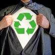 Stock Photo: Superhero recycle