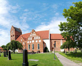 Ahus church panorama 01 — Stock Photo