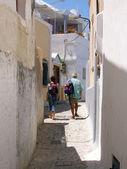 Santorini tourists — Stock Photo