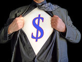 Superhero dollar — Stock Photo