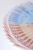Wad of Euros — Stock Photo