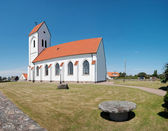 White church panorama — Stock Photo