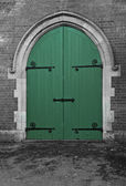 Green Chapel Doors — Stock Photo