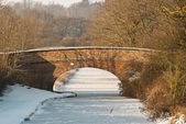 Canal Bridge in Winter — Stock Photo