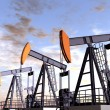 Stock Photo: Oil Field