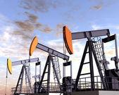Campo petrolífero — Foto de Stock