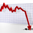 Chart showing bad things — Stock Photo
