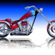 Royalty-Free Stock Photo: Custom Red Chopper