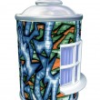 Spray can graffiti house — Stock Photo