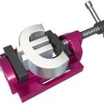 Squeezing the euro — Stock Photo