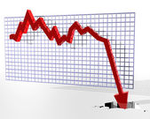 Grafiek weergegeven: slechte dingen — Stockfoto