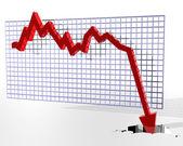 Grafu zobrazeno špatné věci — Stock fotografie