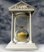 Time is running out for banks — Stock Photo