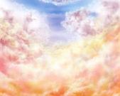 Impressionismus wolken — Stockfoto