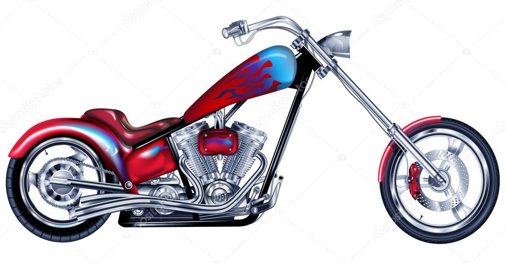 An illustration of a custom motorbike. — Stock Photo #2216486