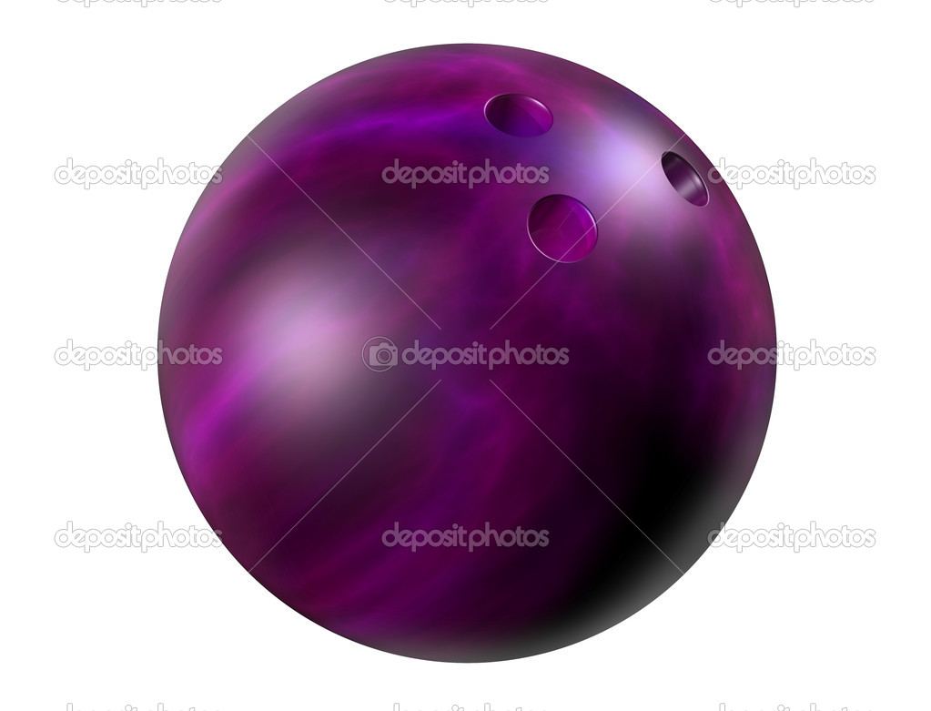 Isolated illustration of a shiny marbled bowling ball — Stock Photo #2217576
