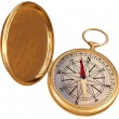 Old compass isolated — Stock Photo