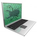 Virus Infected Computer — Stock Photo