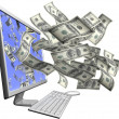 Making money with your computer - Stockfoto