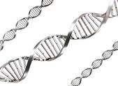Isolierte dna-stränge — Stockfoto
