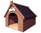 The Doghouse isolated — Stock Photo