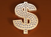 Dollar bling — Stock Photo