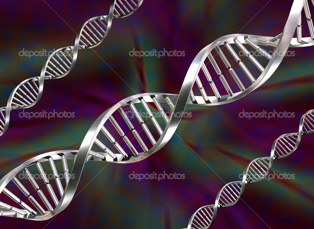 Illustration of three double helix DNA strands — Stock Photo #2220620