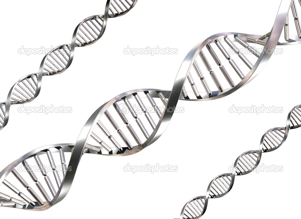 Isolated illustration of double helix DNA strands  Stock fotografie #2220649