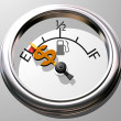 Royalty-Free Stock Photo: Price of gas