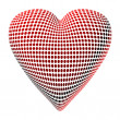 Abstract Dotty Heart - Lizenzfreies Foto