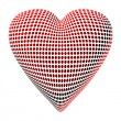 Abstract Dotty Heart - Stockfoto
