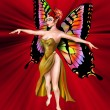 The Amazing Golden Fairy — Stock Photo