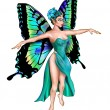 Beautiful Turquoise Fairy — Foto Stock