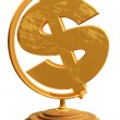 Royalty-Free Stock Photo: US Dollar Globe