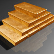Stack of pure gold bars — 图库照片