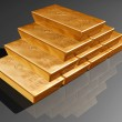 Stack of pure gold bars — Stockfoto