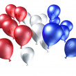 Red, white and blue balloons — ストック写真