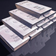 Stack of platinum bars — Stock Photo