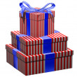 Red white and blue gifts — Stock Photo
