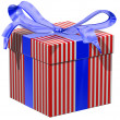 Red white and blue gift — Stock Photo